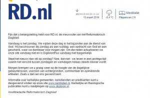 reformatorisch dagblad website op zondag dicht
