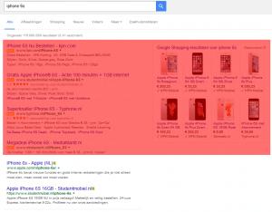 De nieuwe zoekresultaten van Google Adwords (bovenaan)