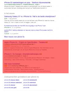 De nieuwe zoekresultaten van Google Adwords (onderaan)