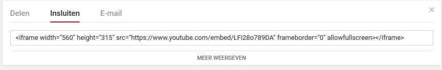 YouTube filmpje invoegen via iframe