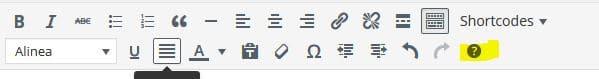 sneltoetsen-wordpress