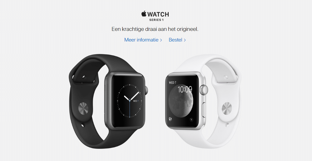 Apple Watch product - less is more