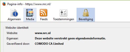 Pagina info NRC.nl