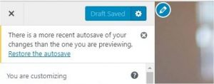 WordPress 4.9 Autosave preview